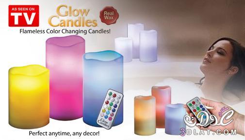 الشموع المضيئة Luma Candles متعدد الألوان 3dlat.net_02_17_45e3