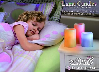 الشموع المضيئة Luma Candles متعدد الألوان 3dlat.net_02_17_72c8