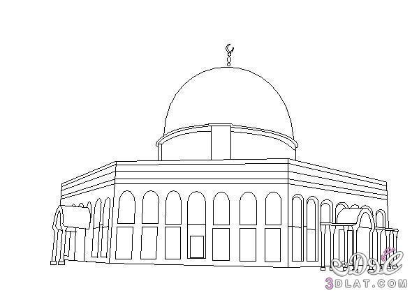 رسومات للتلوين لنصرة فلسطين والمسجد الاقصى 3dlat.net_04_15_7900