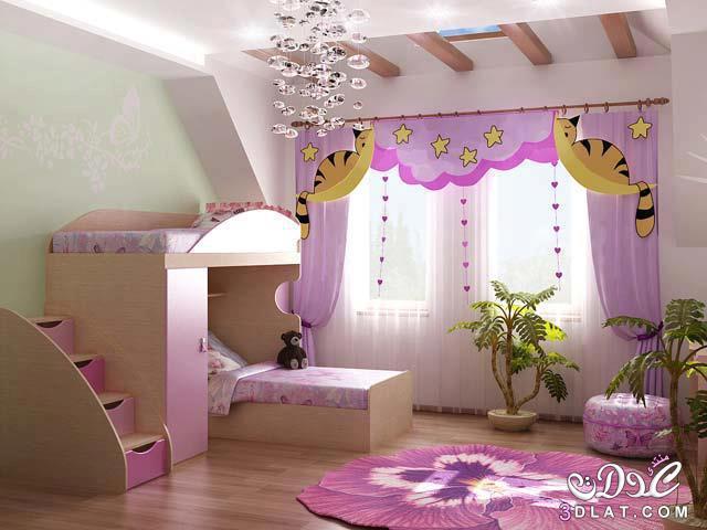غرف نوم بسريرين للصبايا/غرف نوم كيوت بسريرين للبنات /غرف نوم
