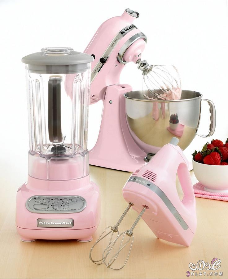 أدوات مطبخ بألوان جميلة,أدوات طبخ باللون التركواز والروز روعه,أجهزة منزلية رقيقة 2015 3dlat.net_07_15_fc1a
