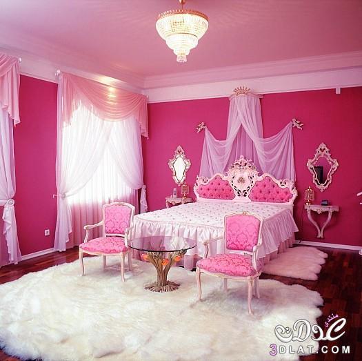 ديكورات غرف نوم 2018,حديثة باللون الوردى ,اجمل غرف   Marwa El shazly