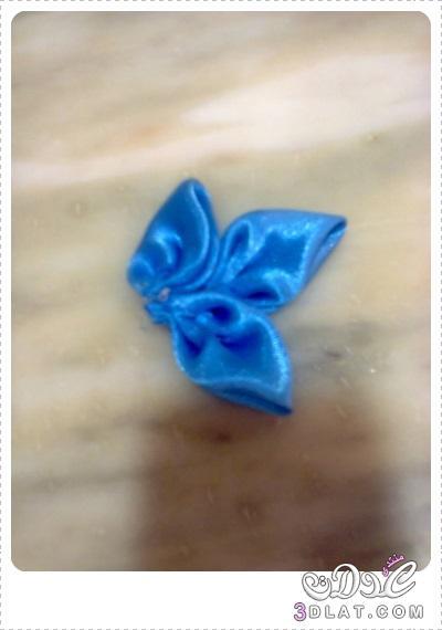 [اعمالي] أشغالي اليدوية لبناتي ، إكسسوار شعر بالساتان باللون الازرق والأخضر 3dlat.net_08_15_cc59