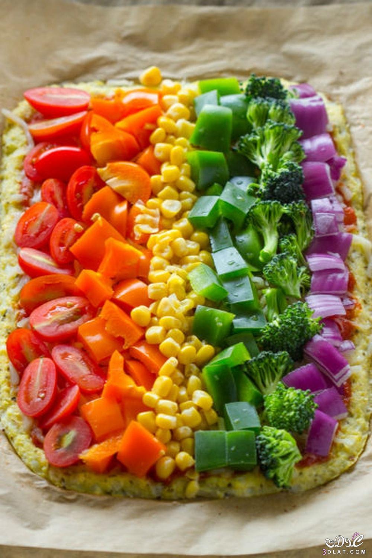بيتزا خضراوات صحية بعجينة القرنبيط,طريقة