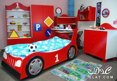 غرف نوم اطفال اولاد 2018 غرف نوم اولاد بسراير على شكل سيارات,غرف