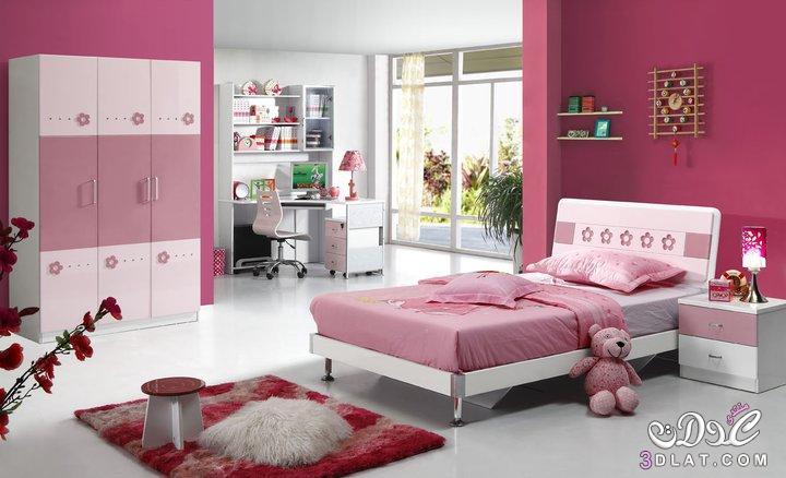 غرف نوم للبنات /غرف نوم صبايا بلون البنك/غرف نوم للبنات باللون