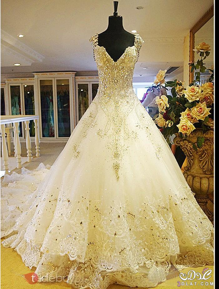 فساتين زفاف 2015 بتصميمات رائعه فساتين 2015 مطرزه بالؤلؤ والاكسسوارات 3dlat.net_09_15_9341