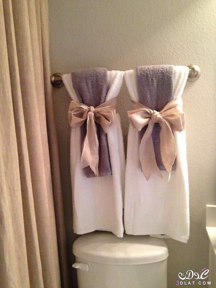 أفكار جميلة لترتيب المناشف في الحمام كيفية وضع المناشف في الحمامات بطريقة أنيقة 3dlat.net_09_15_b3f7