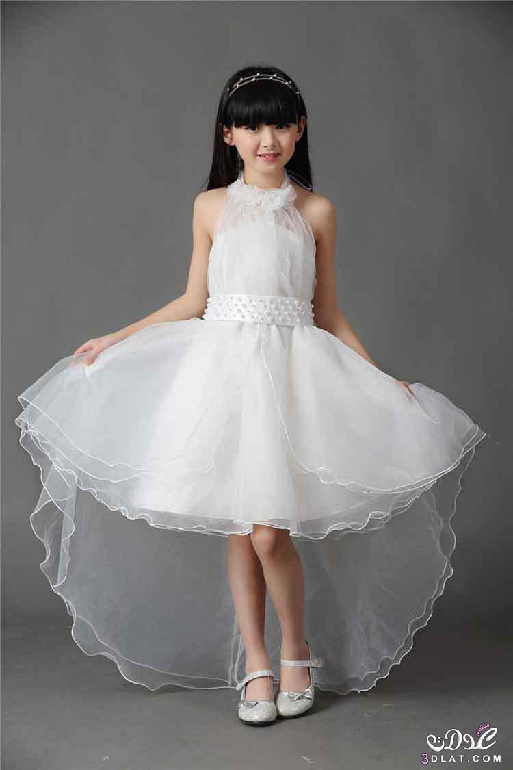 33f398476e0a5 اجمل صور فساتين زفاف بيضاء للاطفال