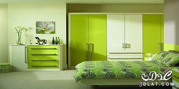 غرف نوم خضراء اللون 2018/2018 غرف نوم خضراء, جمال اللون الاخضر