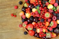 الأحمر, الحب, اللون, بأطعمة, تمتعي, ذات