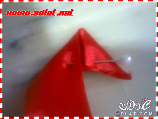 [اعمالي] طريقة عمل وردة بالخطوات ، وردتي من شرايط الساتان ،الوردة الحمرا 3dlat.net_11_15_b3f1