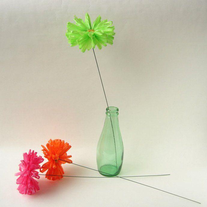 أعمال فنيه بأكياس البلاستيك أعمال يدوية بلأكياس البلاستيك لتزيين منزلك
