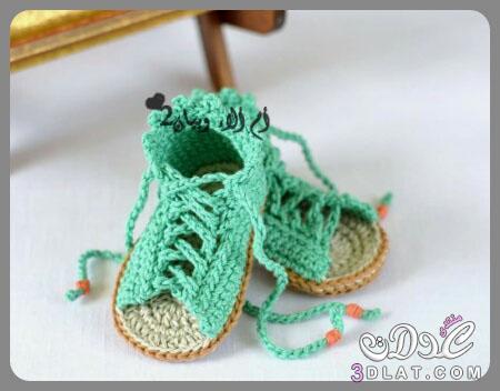 اجمل الجوارب والطرابيش المصنوعة من الكروشيه والتريكو للبيبيهات,جوارب وطرابيش للمواليد