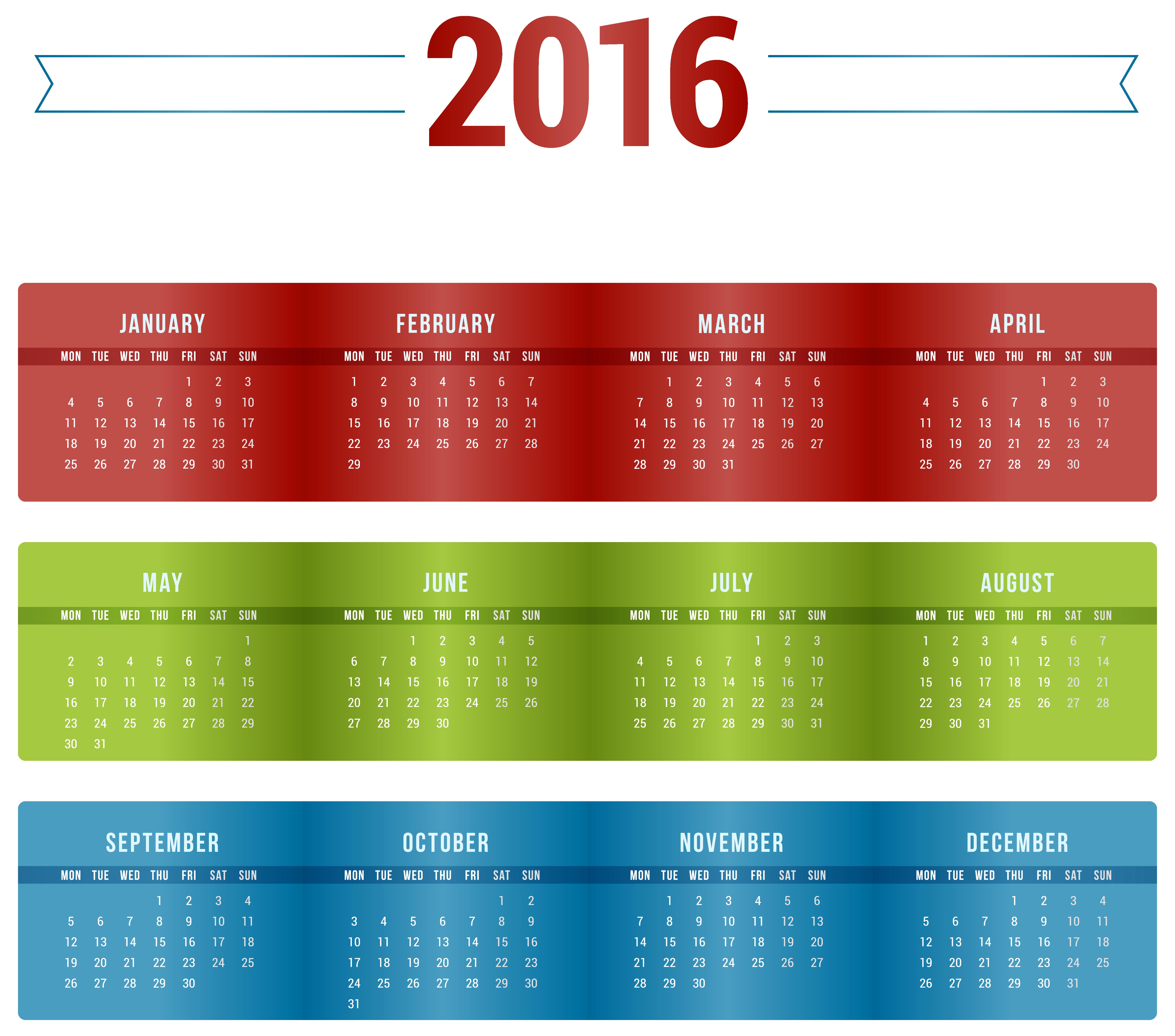 بالصور تقويم وصور سنة 2019 3dlat.net 13 15 4ec6 Transparent Nice 2016 Calendar PNG Image