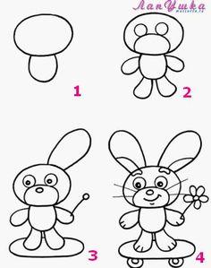 علمي طفلكِ الرسم خطوة بخطوة سهلة 3dlat.net_14_17_e6d4