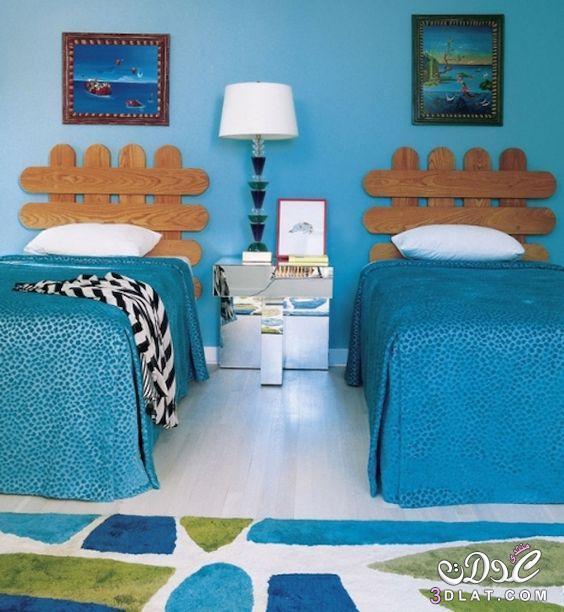 أحدث موديلات غرف نوم مودرن للأطفال بسريرين منفصلين ذات تصميم