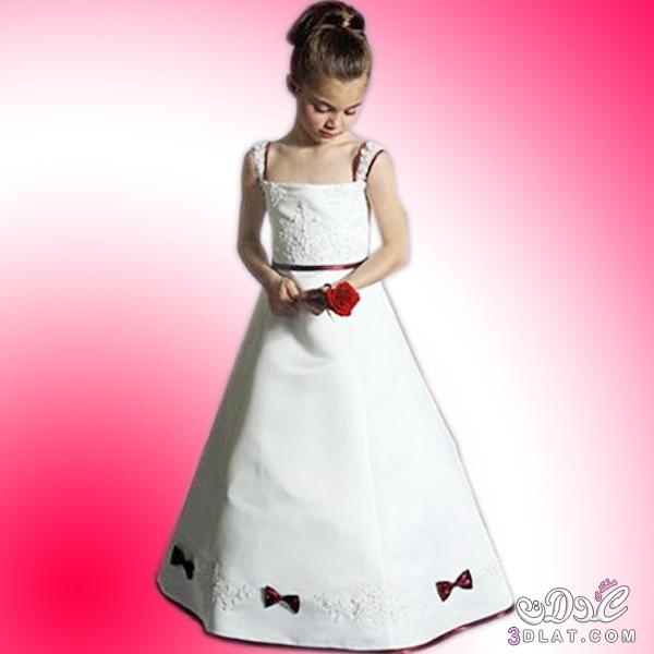 fcab5fa1e فساتين بنات صغار للافراح باللون الابيض و الاحمر ، اختاري افضل لبس ...