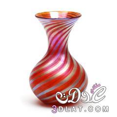 فازات ملونة روعه,Glass Vase,مزهرية زجاج مزخرفة,أجمل الفازات للبيت,أشكال فازات زخرفه 3dlat.net_17_14_4f88