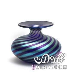فازات ملونة روعه,Glass Vase,مزهرية زجاج مزخرفة,أجمل 3dlat.net_17_14_4f88