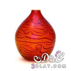 فازات ملونة روعه,Glass Vase,مزهرية زجاج مزخرفة,أجمل 3dlat.net_17_14_f641