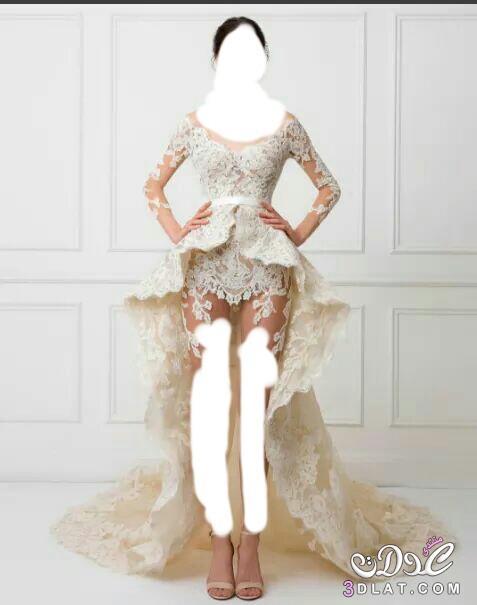 3d508aa69 احدث تصاميم فساتين زفاف ٢٠١٧، فساتين زفاف قصيره ،طويله ،ذيل سمكه ...