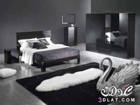 غرف نوم باللون الاسود2018 صور غرف نوم باللون الابيض والاسود   عمر