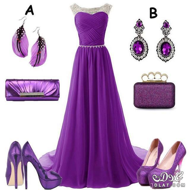 faa3e2bb3 احدث فساتين السهرة باللون الموف,اشيك الفساتين السهرة باللون الموف ...