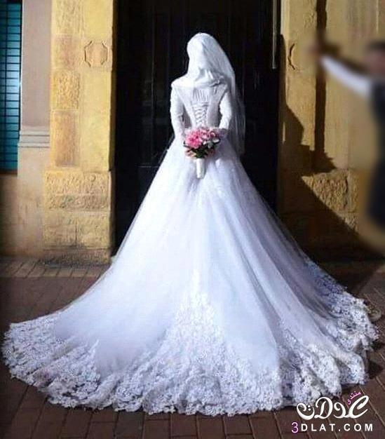 939dce7f02161 فساتين فرح 2020 صور فساتين زفاف للمحجبات