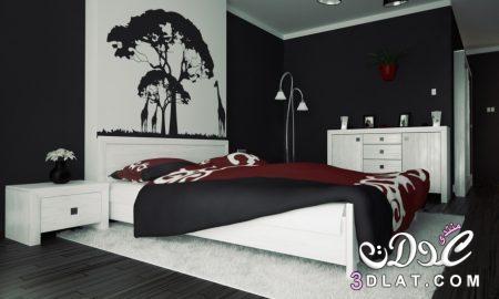 غرف نوم سوداء،ديكورات غرف عرسان باللون الأسود،صور غرف نوم مودرن