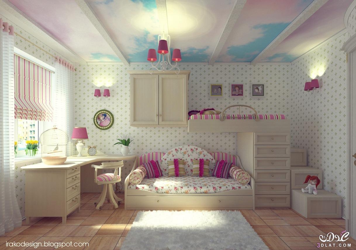 احلى و اشيك غرف نوم للصبايا , ديكورات غرف البنات , صور احلى