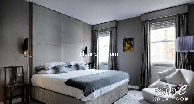 غرف نوم باللون الرصاصي, ديكورات غرف نوم رصاصي, غرف نوم غريبه وحلوه