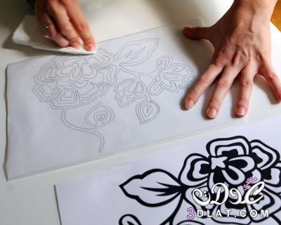 فكرة والطريقة المستخدمة فى الرسم على القماش فى المنزل