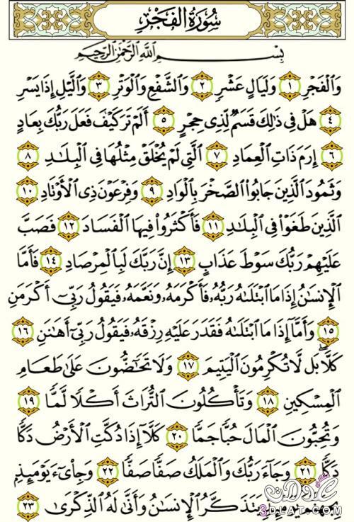 شرح وتفسير سورة الفجر Surah