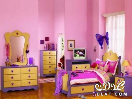 غرف نوم اطفال فخمة 2018 , احدث تصميمات غرف نوم للاطفال , الوان