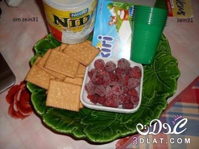 طريقة عمل اتشيز كيك بسيط,تحلية لبعد الفطار فى رمضان,ابسط تشيز كيك 3dlat.net_22_15_97c1