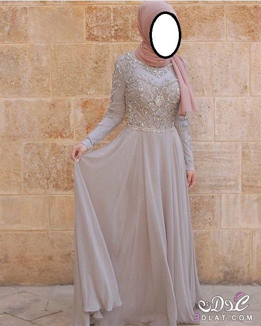 4c67cb14c كولكشن للمحجبات 2020 فساتين سواريه مميزه أجمل الفساتين 2020 - جويريه
