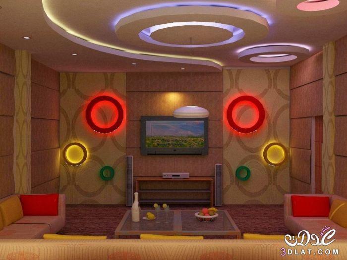 ديكورات جبس مودرن 2017 بورد غرف نوم,مجالس, اسقف وحوائط معلقة ديكورات جبسية لشقق رائعه