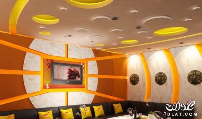 ديكورات جبس مودرن 2019 بورد غرف نوممجالس صالونات اسقف وحوائط معلقة