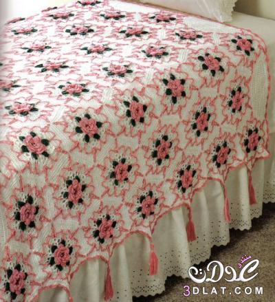 بالصور اجمل مفارش السرير الكروشية,مفارش سرير كروشية تجنن 3dlat.net_24_16_0ce6