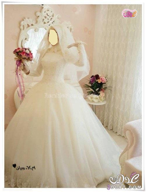 f514ca78af904 للعروس المحجبة فساتين زفاف تركية رائعة