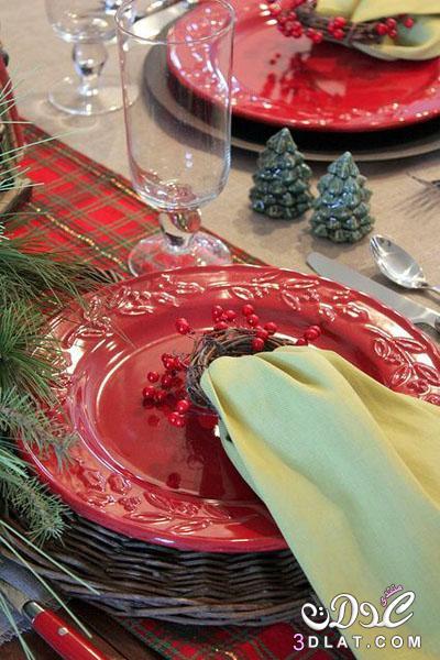 اجمل الافكار الانيقة لتزيين مائدة الاحتفال بالاعياد 3dlat.net_27_14_8d17