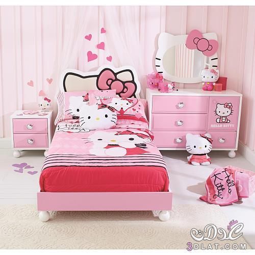 أرق غرف اطفال Hello Kitty اروع غرف اطفال هالو كيتي بموديلات 2020