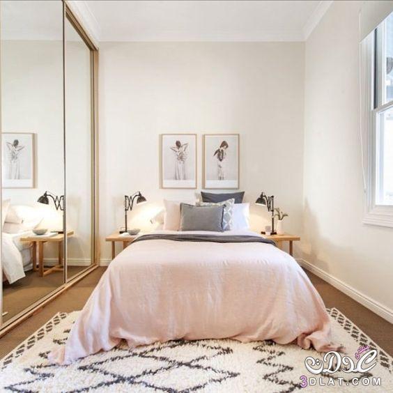 غرف نوم صغيرة الحجم جميلة الشكل لأصحاب الشقق الصغيرة ،غرف نوم