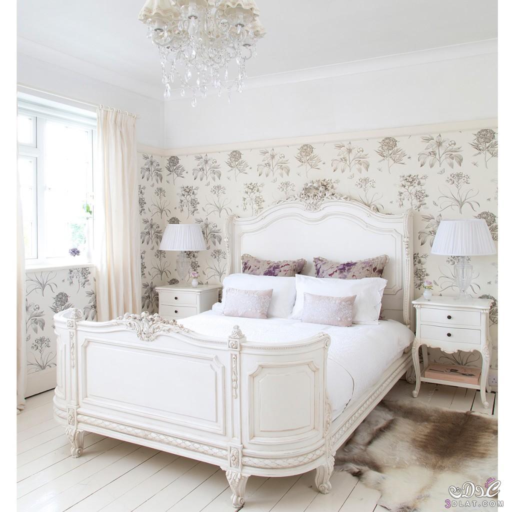 غرف نوم مودرن 2018, غرف نوم كلاسيك, غرف نوم باللون الابيض والاسود